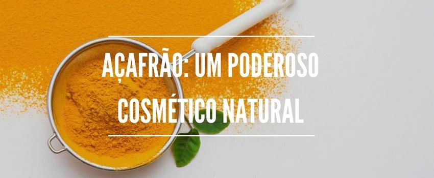 Açafrão: um poderoso cosmético natural